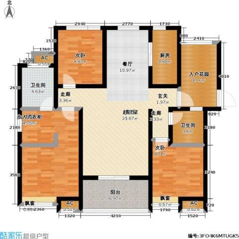 首创悦府3室0厅2卫1厨132.00㎡户型图