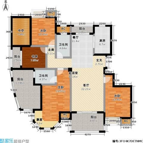 皇马公寓4室0厅2卫1厨168.00㎡户型图