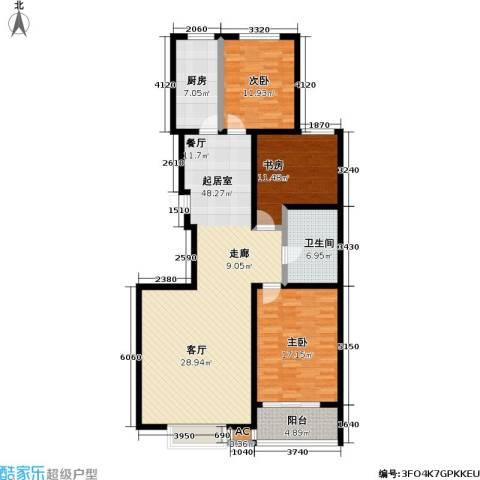 橙市阳光3室0厅1卫1厨122.00㎡户型图