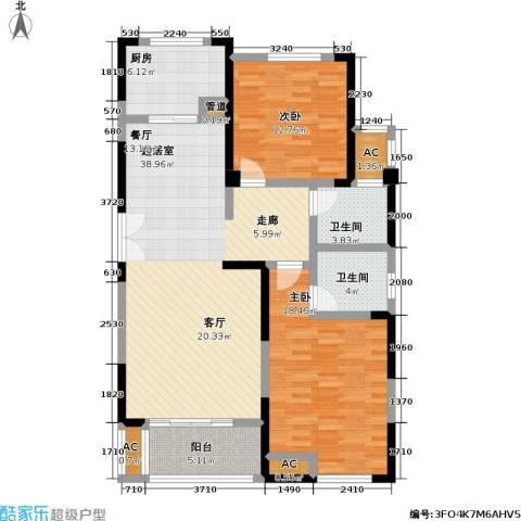 国金怡桂苑2室0厅2卫1厨108.00㎡户型图
