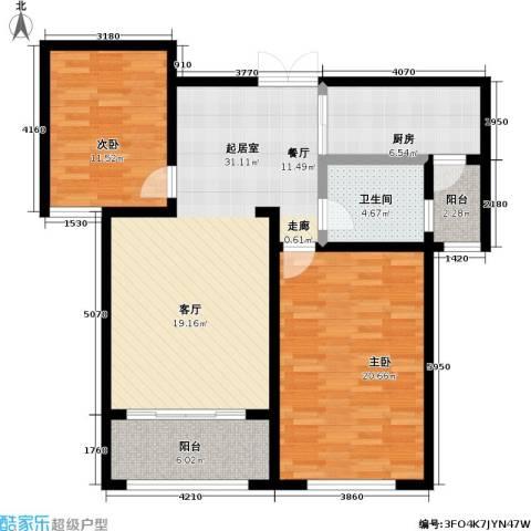 锦华广场2室0厅1卫1厨119.00㎡户型图
