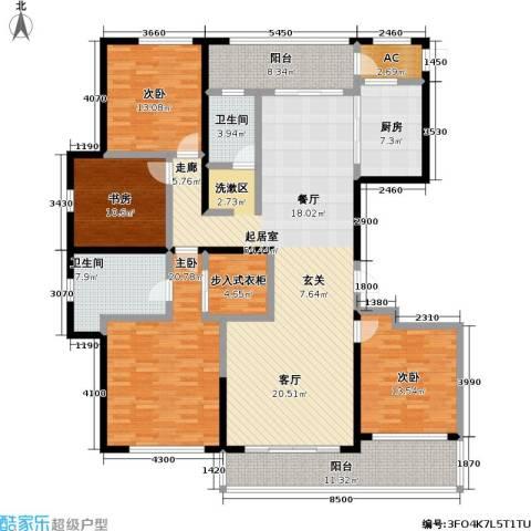 佳木公园1984室0厅2卫1厨193.00㎡户型图
