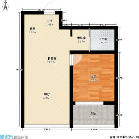 永福苑1室0厅1卫0厨64.00㎡户型图