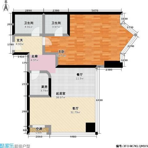 MINI公馆1室0厅2卫1厨119.00㎡户型图