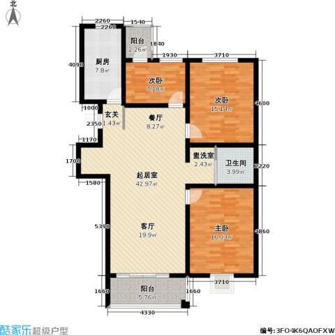 永福苑3室0厅1卫1厨144.00㎡户型图