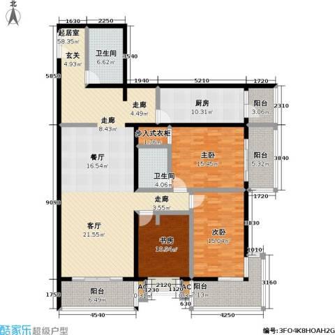 庚坊国际(好来屋)3室0厅2卫1厨167.00㎡户型图