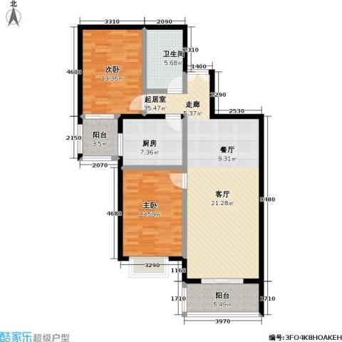 庚坊国际(好来屋)2室0厅1卫1厨97.00㎡户型图