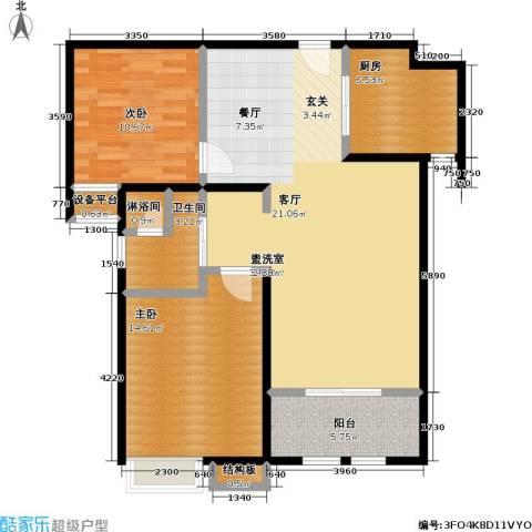 稽山御府天城2室0厅1卫1厨110.00㎡户型图
