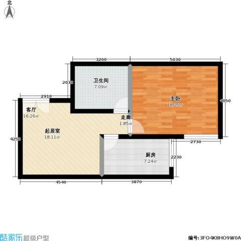 庚坊国际(好来屋)1室0厅1卫1厨57.00㎡户型图