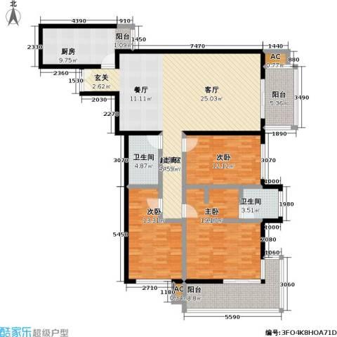 庚坊国际(好来屋)3室0厅2卫1厨140.00㎡户型图