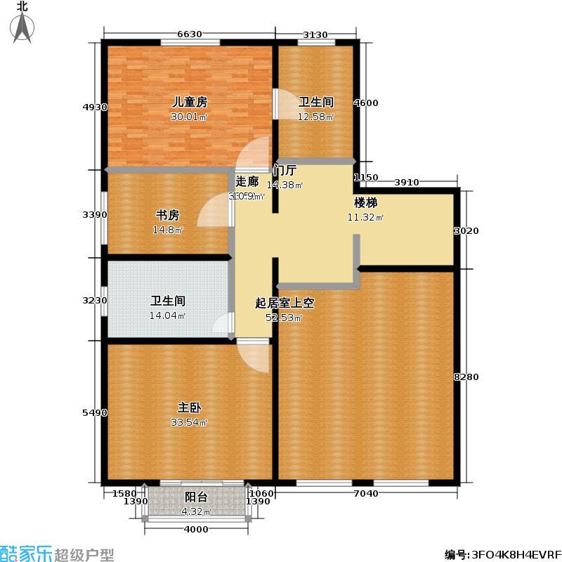 富泉花园215.55㎡复式3居户型