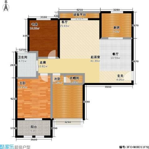 稽山御府天城3室0厅1卫1厨139.00㎡户型图