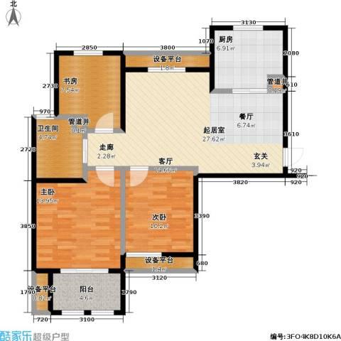 稽山御府天城3室0厅1卫1厨115.00㎡户型图