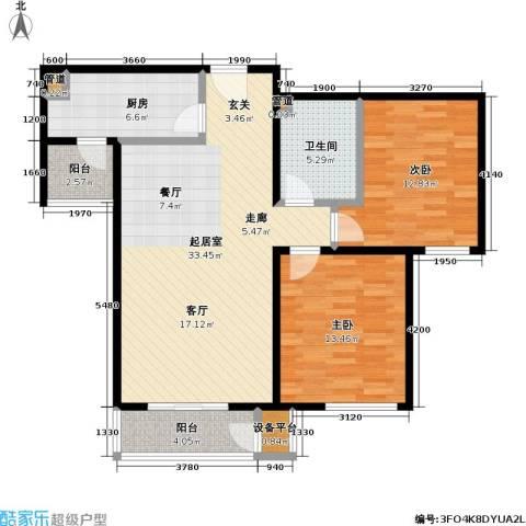 力天凤凰城2室0厅1卫1厨112.00㎡户型图
