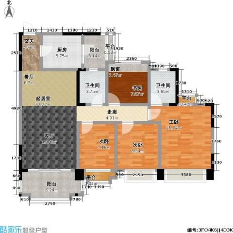 瀚华花园4室0厅2卫1厨120.00㎡户型图
