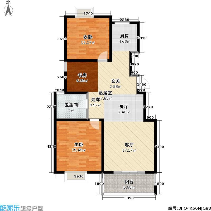 名城嘉苑96.00㎡名城嘉苑户型图96平米(3/3张)户型10室