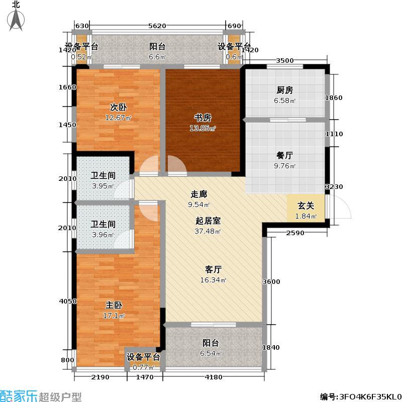 外滩三阳金城151.00㎡外滩三阳金城户型图C-1-1户型3室2厅2卫(2/13张)户型3室2厅2卫