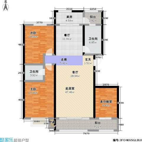 凯迪名苑二期2室0厅2卫1厨133.00㎡户型图