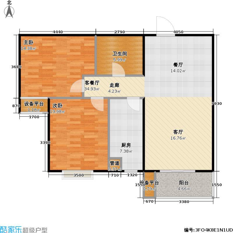 颐景蓝湾90.15㎡户型