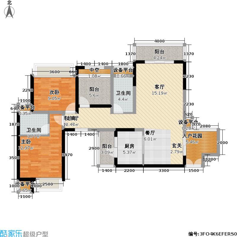 龙光水悦龙湾112.50㎡一单元03、二单元02户型2室2厅2卫
