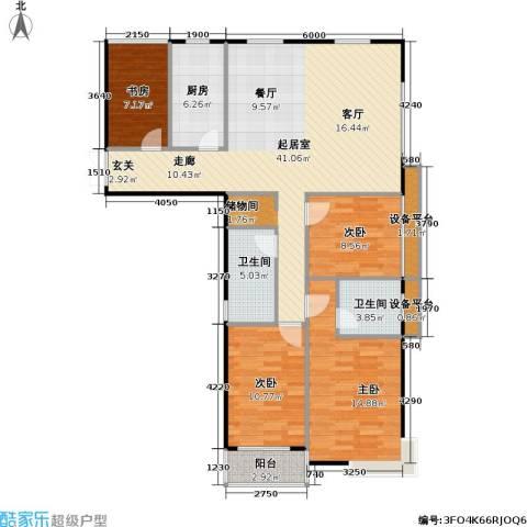嘉宏盛世4室0厅2卫1厨112.00㎡户型图