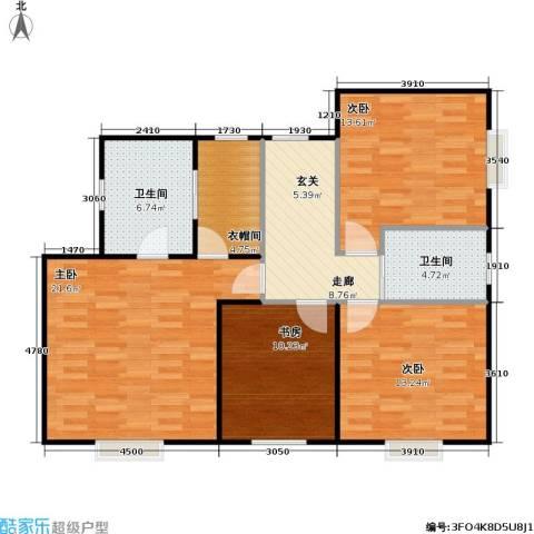 嘉来涪滨印象4室0厅2卫0厨113.00㎡户型图