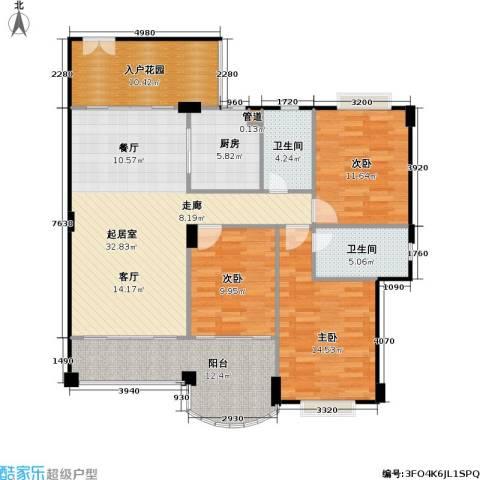 金朗华庭3室0厅2卫1厨116.26㎡户型图