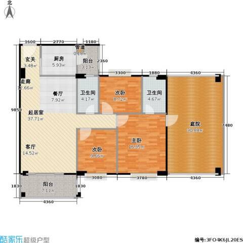 金朗华庭3室0厅2卫1厨138.82㎡户型图