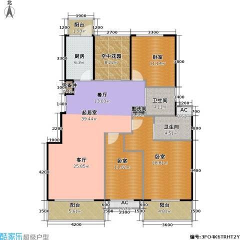 润德北京公园2卫1厨160.00㎡户型图