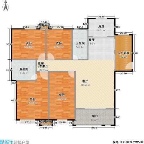 浔城湖锦4室1厅2卫1厨142.00㎡户型图