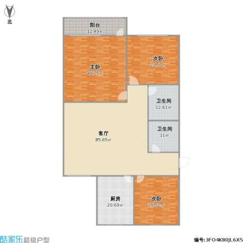 新馨家园3室1厅2卫1厨321.00㎡户型图