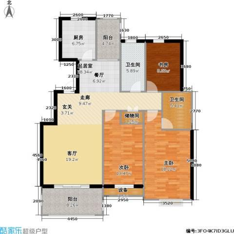 翰林名都3室0厅2卫1厨122.00㎡户型图