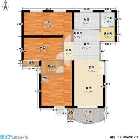 兴华童话世界3室0厅1卫1厨130.00㎡户型图