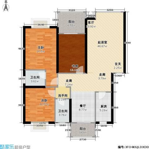 康诗丹郡3室0厅2卫1厨154.00㎡户型图