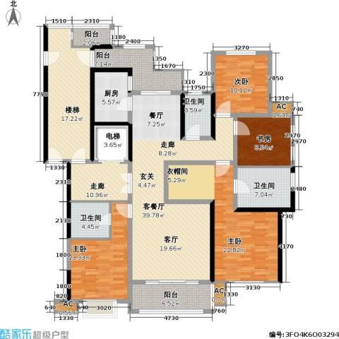 璞御4室1厅3卫1厨233.00㎡户型图