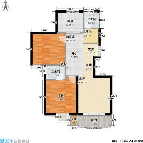 兴华童话世界2室0厅2卫1厨104.00㎡户型图