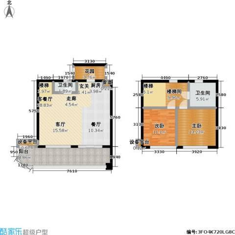 华润小径湾2室1厅2卫0厨145.00㎡户型图