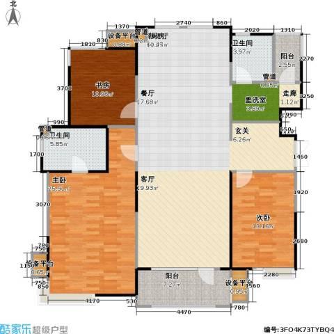 彩凤山城观邸3室1厅2卫0厨142.00㎡户型图