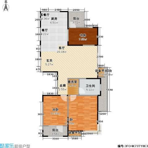 彩凤山城观邸3室1厅1卫0厨107.00㎡户型图