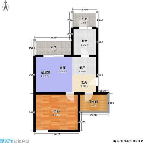 天鑫家园(格林雅地)1室0厅1卫1厨65.00㎡户型图