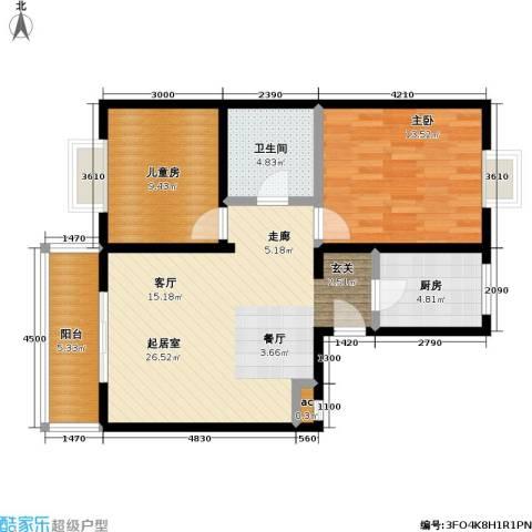 天鑫家园(格林雅地)2室0厅1卫1厨84.00㎡户型图