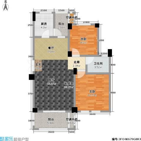 现代森林小镇金融SOHO垂直商业2室0厅1卫1厨89.00㎡户型图