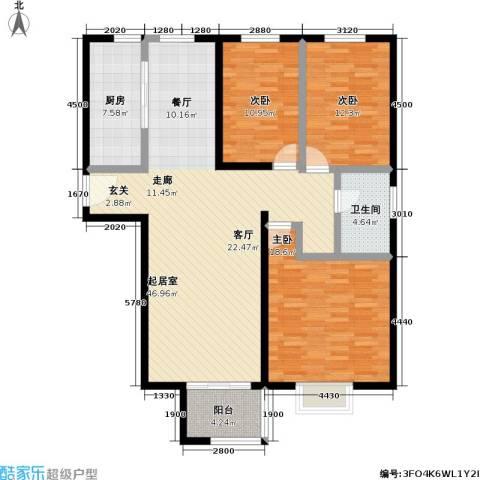 万科金色城品3室0厅1卫1厨150.00㎡户型图