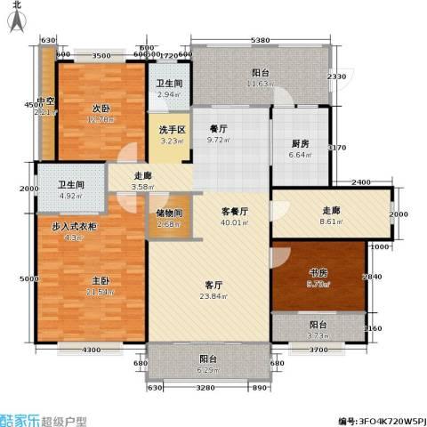 和协风格尚品3室1厅2卫1厨137.00㎡户型图