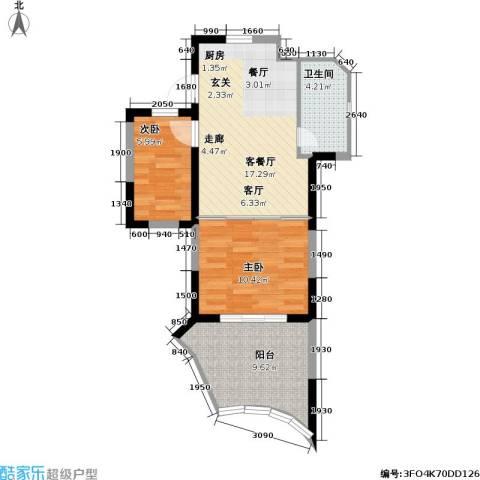 平海・逸龙湾2室1厅1卫0厨68.00㎡户型图