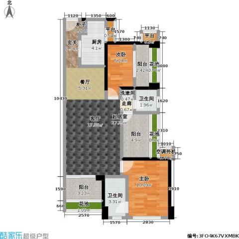 万科广场2室0厅2卫1厨89.00㎡户型图