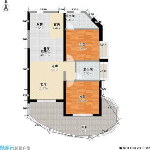 平海・逸龙湾2室1厅2卫0厨145.00㎡户型图