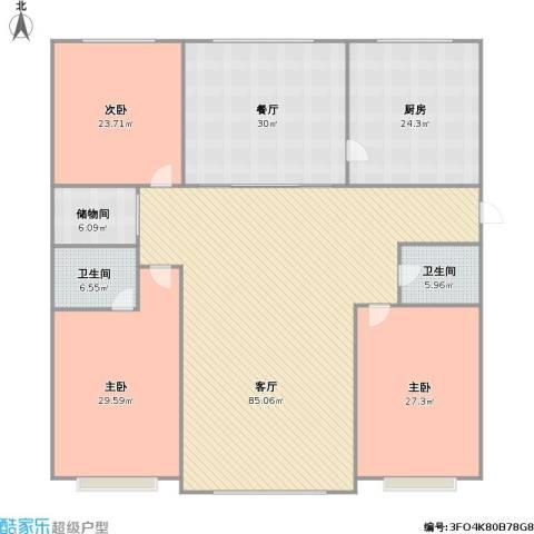 新家园3室2厅2卫1厨312.00㎡户型图