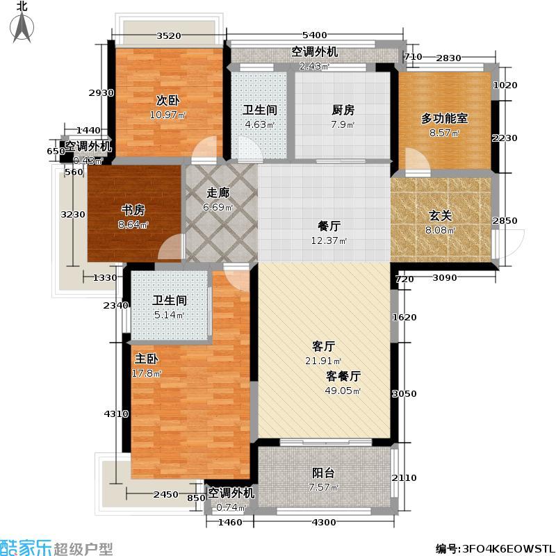 保利公园九里137.00㎡D3户型3室2厅2卫