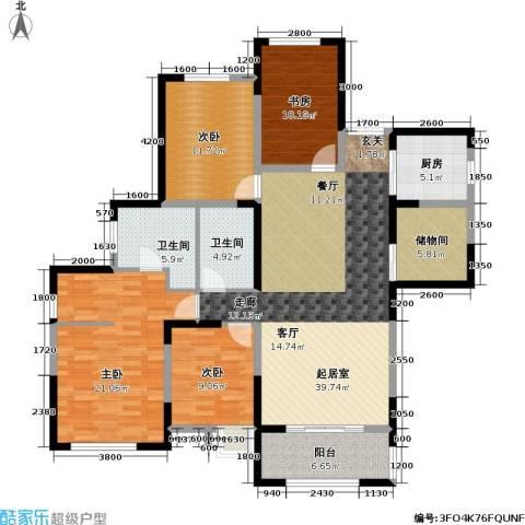 信远朗庭4室0厅2卫1厨135.00㎡户型图